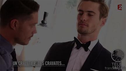 Maison f paris cr ateur cravatier vu la t l vision for Tele matin france 2 fr cuisine